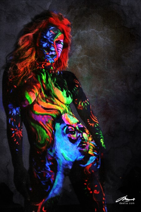 Fire Within body painting by Danny Setiawan
