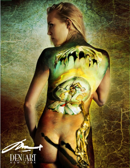 Geopoliticus body painting by DEN ART NY
