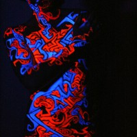 tribal UV body painting