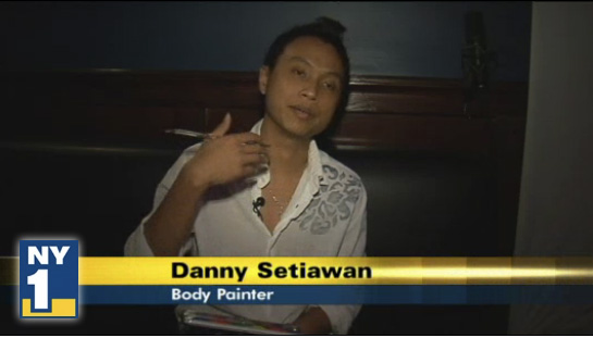 Danny Setiawan, body painter on NY1