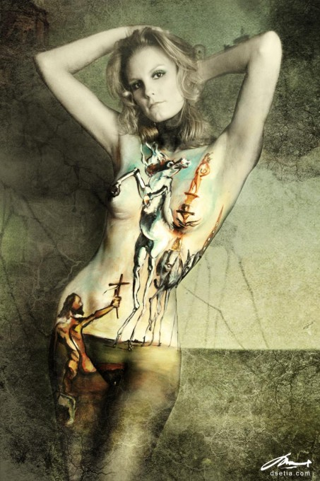 Temptation of St. Anthony after Dali body painting by Danny Setiawan