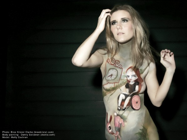 Jessica's hope after Ryden body painting by Danny Setiawan