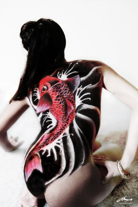 Koi body painting by Danny Setiawan