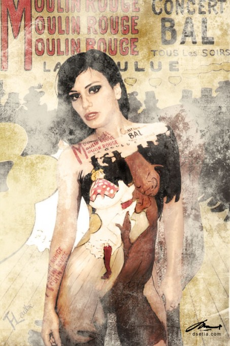Moulin Rouge body painting by Danny Setiawan