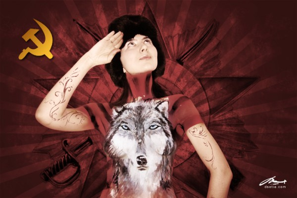 Soviet Wolf body painting by Danny Setiawan