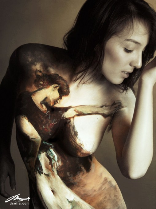 Spanish Dancer after Sargent body painting by Danny Setiawan