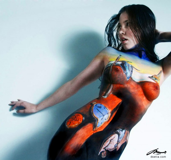 Persistence of Memory body painting by Danny Setiawan