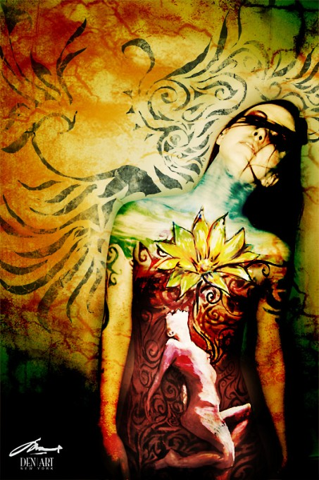 rebirth body painting by Danny Setiawan