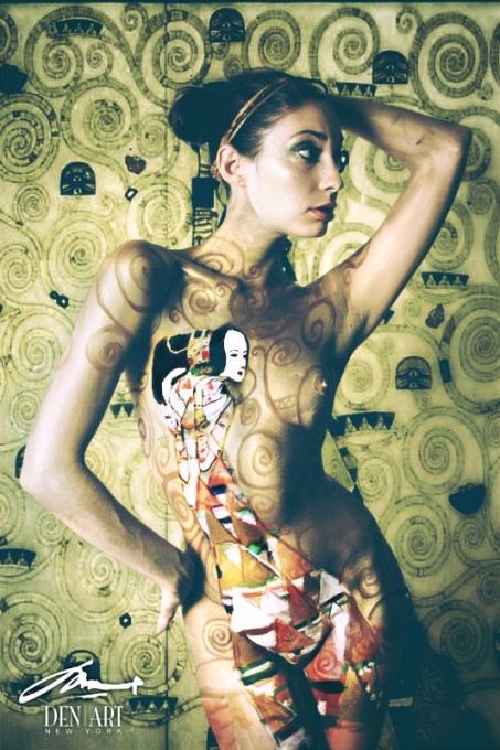 ecxpectation klimt body painting by Danny Setiawan