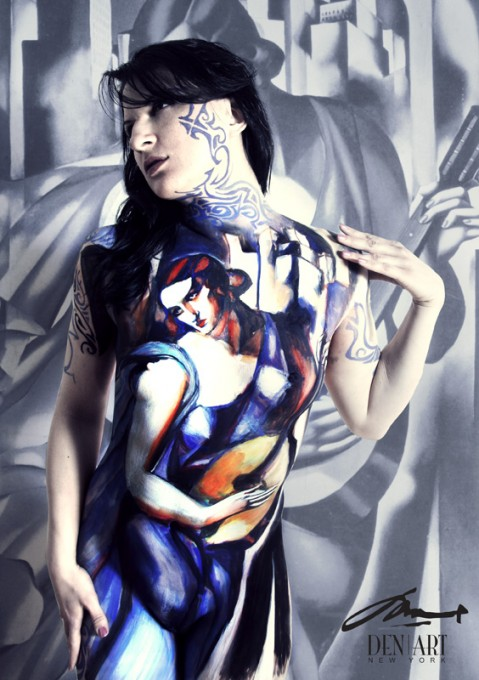 Musician body painting by Danny Setiawan