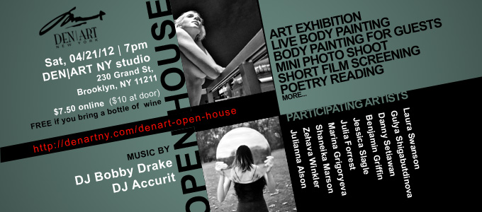 DEN ART open house flyer