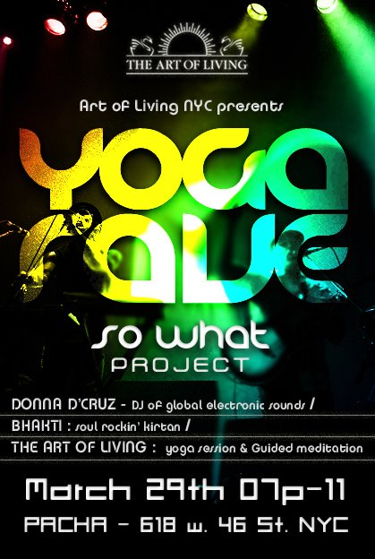 Yoga Rave flyer