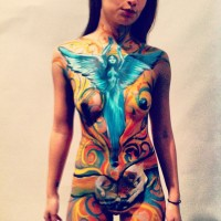 self rediscovery body painting