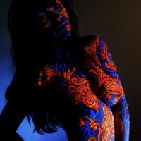 flourish glow UV body painting by Danny Setiawan