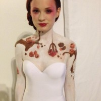 body painting for Stoli event