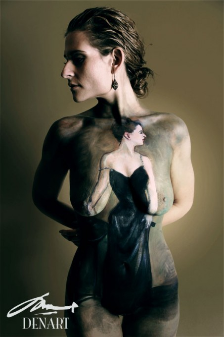 Madame X body painting by Danny Setiawan of DenArt bodyart studio