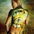 geopoliticus body painting 12x24