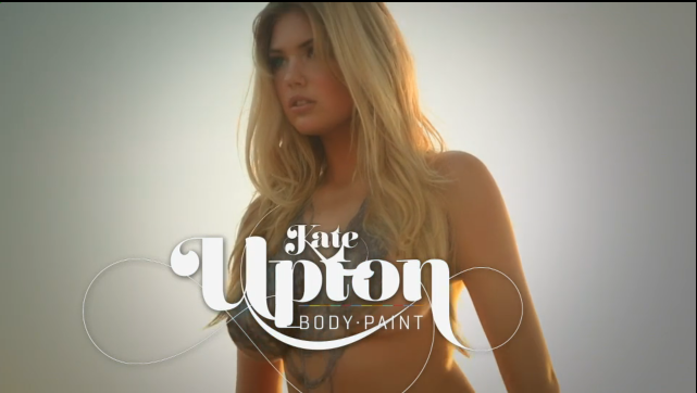 Kate Upton SI body painting video