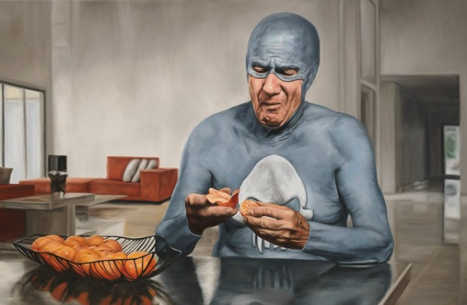 Superhero painting by Andreas Englund
