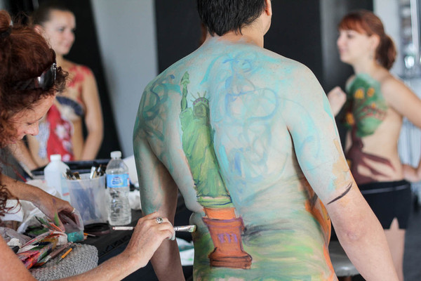 Body painting jam session