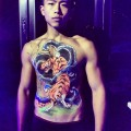 Chinese Tiger body painting