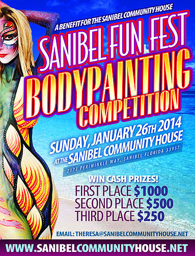 sanibel body painting competition