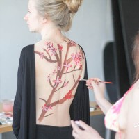 Intro to body painting class