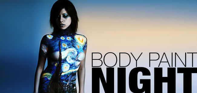 Body Paint Night Banner