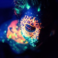 Stunning space photographs using just body paint with black light