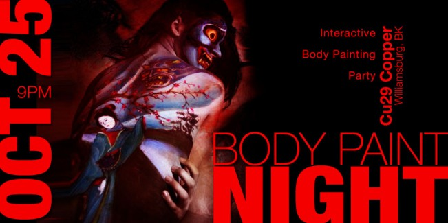 graphic for Body Paint Night Halloween