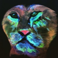 UV body painting from Paint in the Dark class