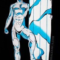 This Comic Book Illustration is Actually a Studio Photo with Body Paint