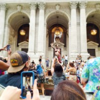 Body painting of Amanda Palmer at NY Public Library