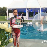 body painting at party in the Hamptons