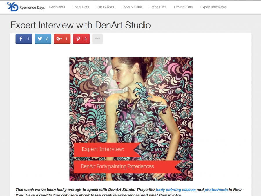 Experience Days interview with DenArt studio