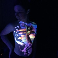 Paint in the dark UV body painting class NYC