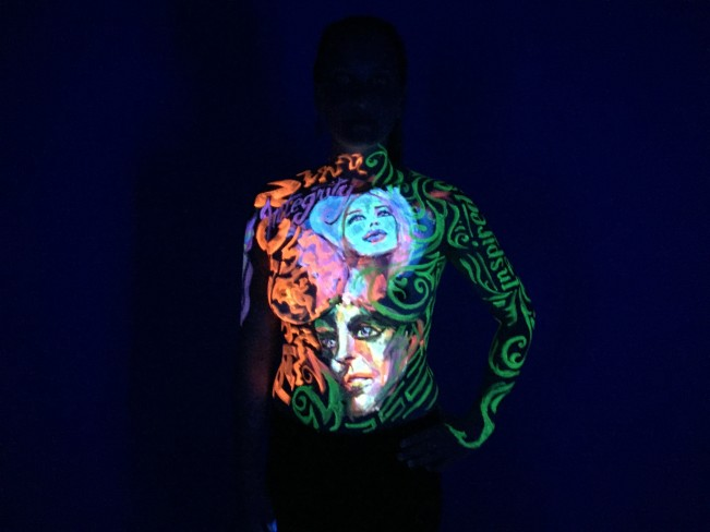passion +integrity UV body painting