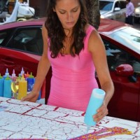 Chocolate body painting for a cause at Food & Wine