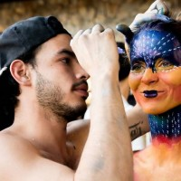Get your body painted at a free rooftop party this Saturday