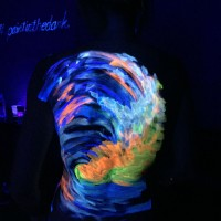 carry the ocean uv body painting - back side