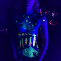 Starry Night over the Rhone UV body painting