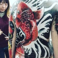 body painting class in session