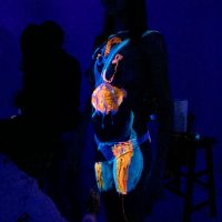 details of UV body painting - in progress