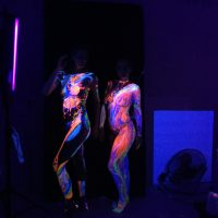 finished UV body painting