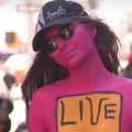 Body painting event coming to Times Square inspired by 'Subway Therapy' Post-its