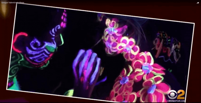 UV Body Painting Class for couples on CBS2